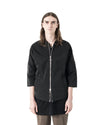 Thru 3/4 Sleeve Bomber Jacket - Black