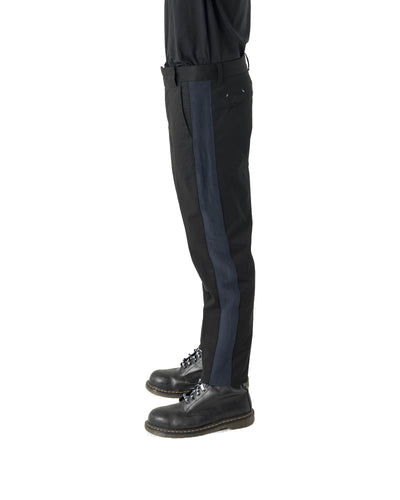 Venic Trouser - Black and Navy Stripe