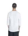 Stalt 3/4 Sleeve T-Shirt - White