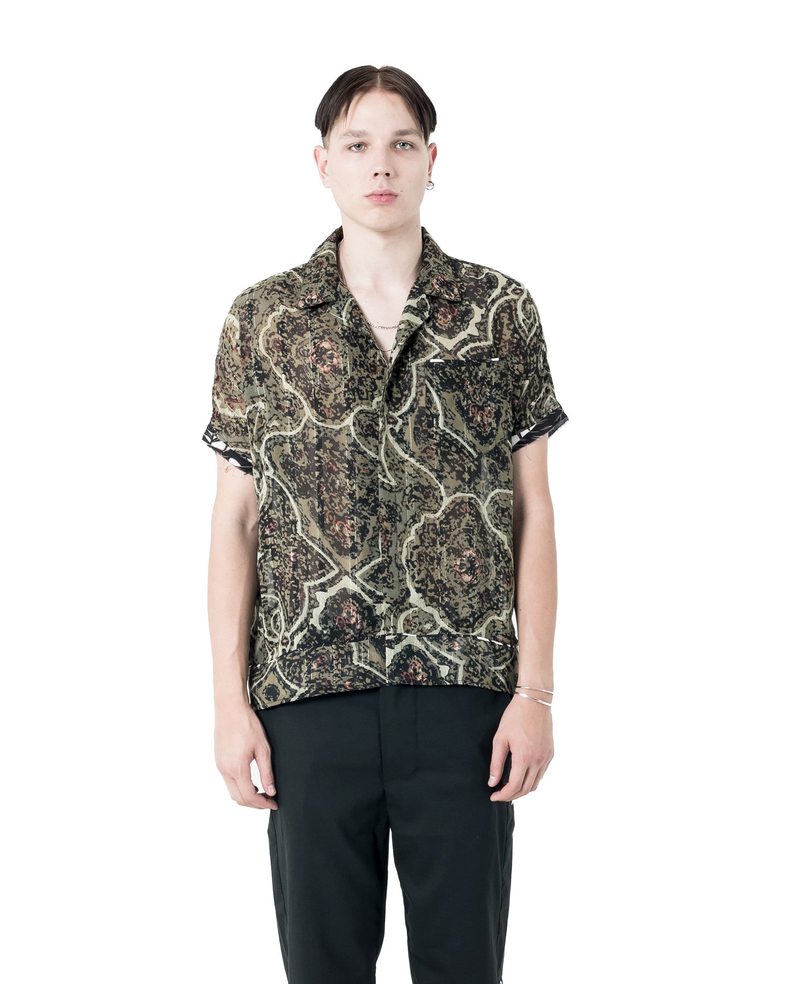 Pars Short Sleeve Shirt - Floral Pattern