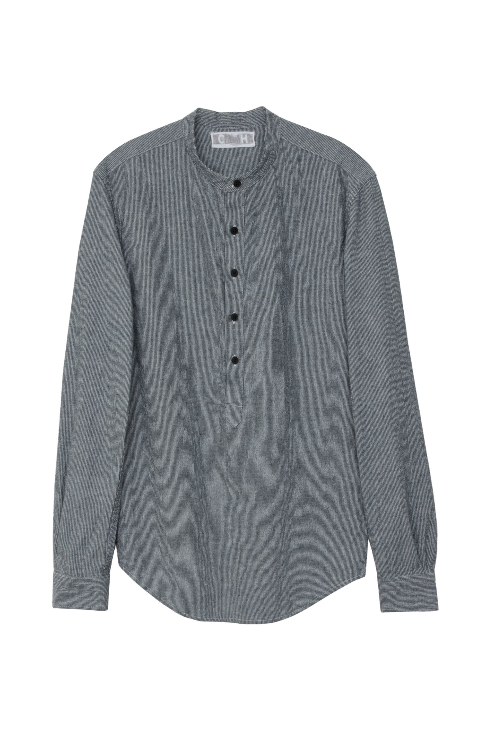 GRANDDAD PULLOVER SHIRT DARK DENIM