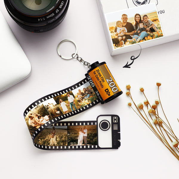 Custom Personalized Keyring Colorful Camera Roll Keychain Romantic Customized Gifts