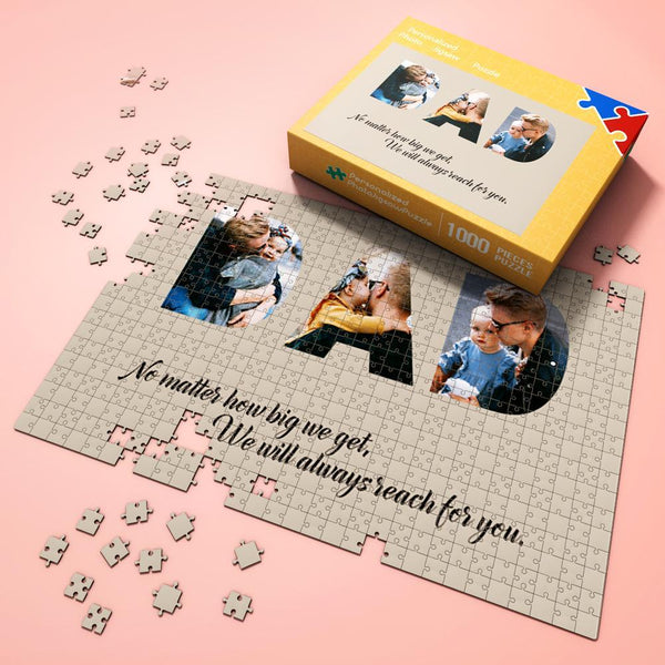 Custom Photo Jigsaw Puzzle Best Indoor Gifts 300-1000 pieces Great Memorible Gift for Dad