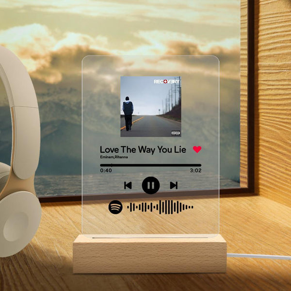Custom Spotify Code Music Plaque Night Light(5.9in x 7.7in)
