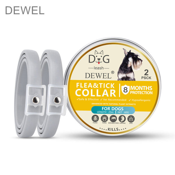 Dewel 2 PCS Collar Flea Mosquitoes Ticks Insect