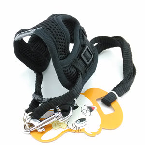 Harness Vest Leash Collar Set