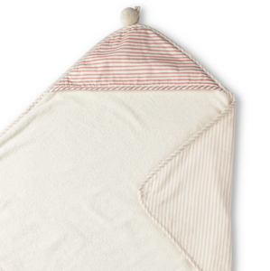 HOODED TOWEL - petal pink