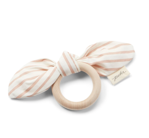 BOW TEETHER - petal pink