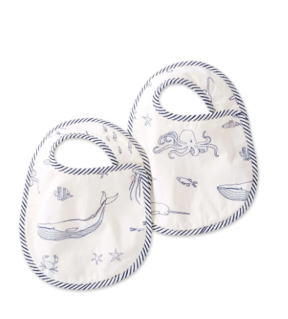 CLOTH BIBS - aquatic