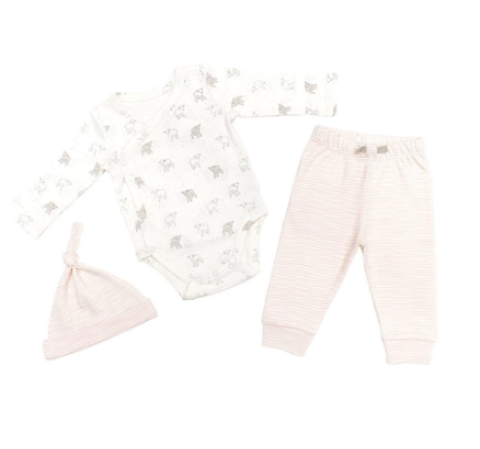 BABY SET - pink little lamb