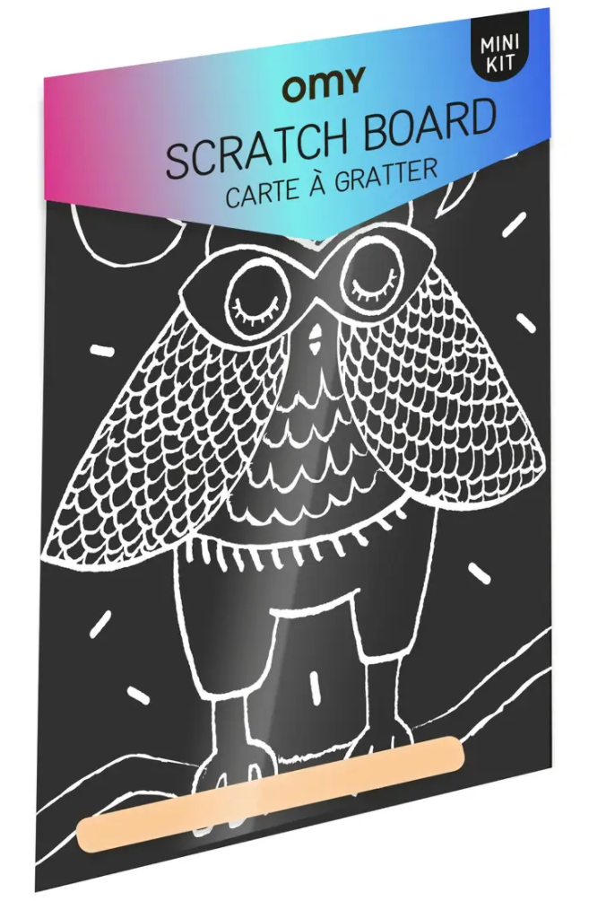 SCRATCH POSTCARD - Owl
