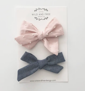 PIGTAIL BOW SET