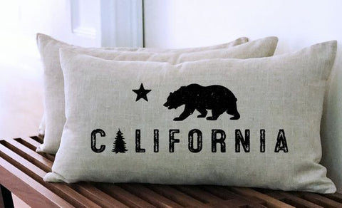 California Bear Pillow