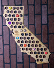 California Beer Bottle Cap Map