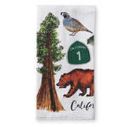 California Collage Tea Towel