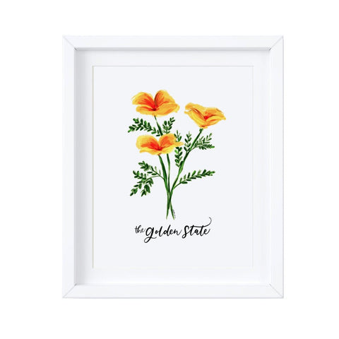 California Golden State Poppy Art Print