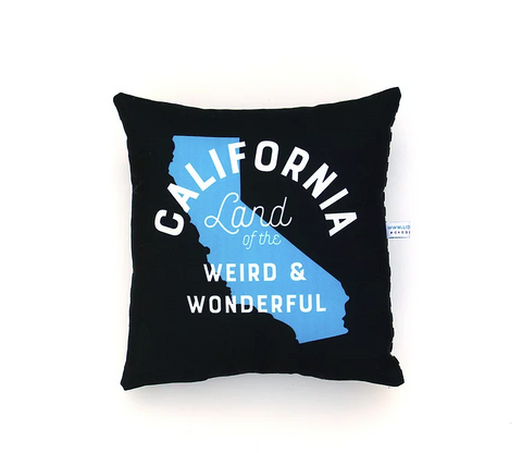 California Land of the Weird Pillow
