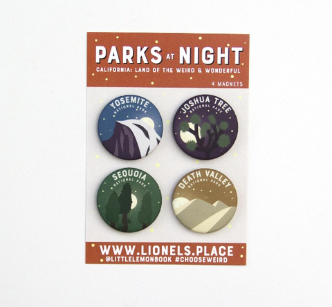 California Parks at Night Magnet 4-Pack