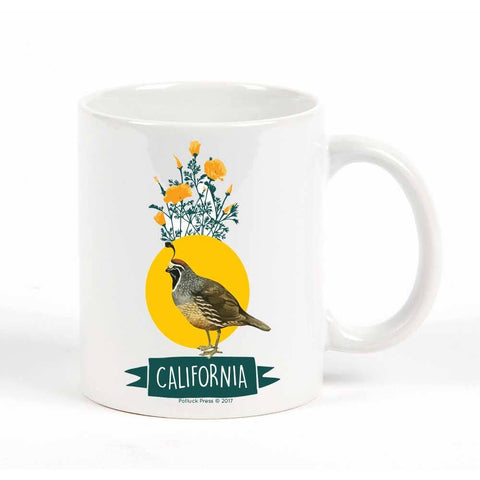 California State Bird Map Mug