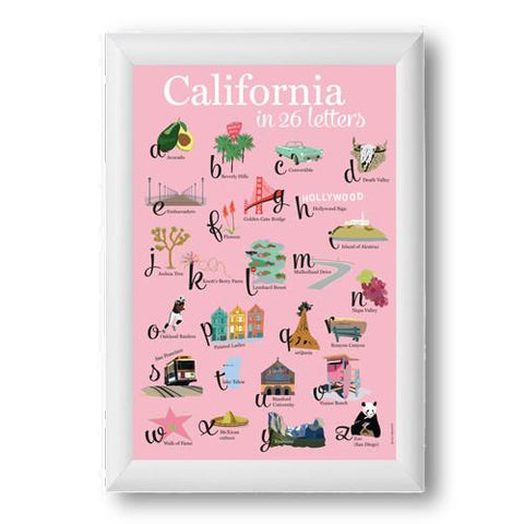 California in 26 Letters Art Print