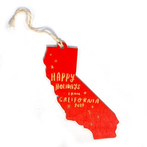 Happy Holidays from California Large Ornament