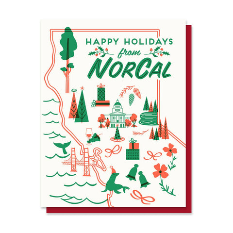Happy Holidays from Norcal Greeting Card