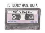Mixtape Retro Cassette Tape Greeting Card