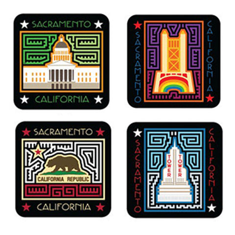 Sacramento and California Themed Coasters