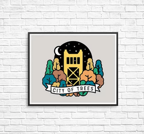 Sacramento Tower Bridge Art Print
