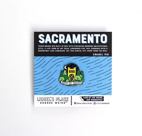 Sacramento Tower Bridge Enamel Pin