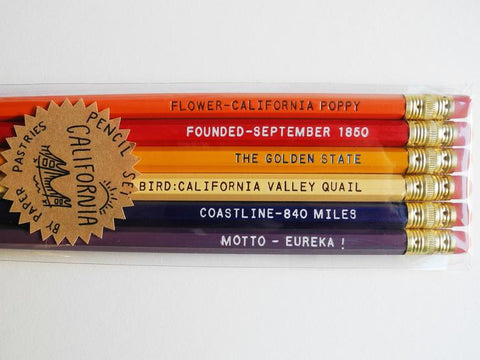 California Facts Pencil Set