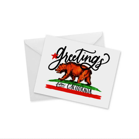 Greetings from California Greeting Card