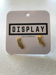 California Tiny State Stud Earrings