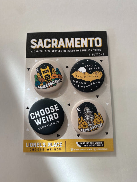 Sacramento Button Pack