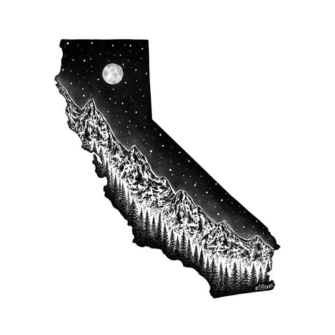 California and Sierras Art Print