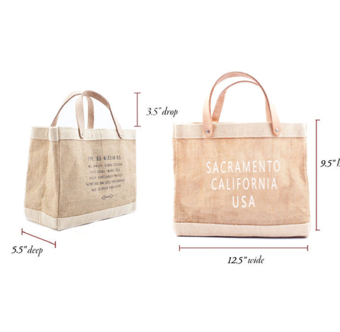 Sacramento City Series Market Tote Bag Petite