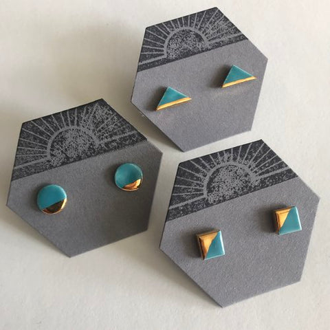 Bridger - Circle Ceramic Stud Earrings