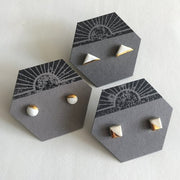 Ryan - Square Ceramic Stud Earrings