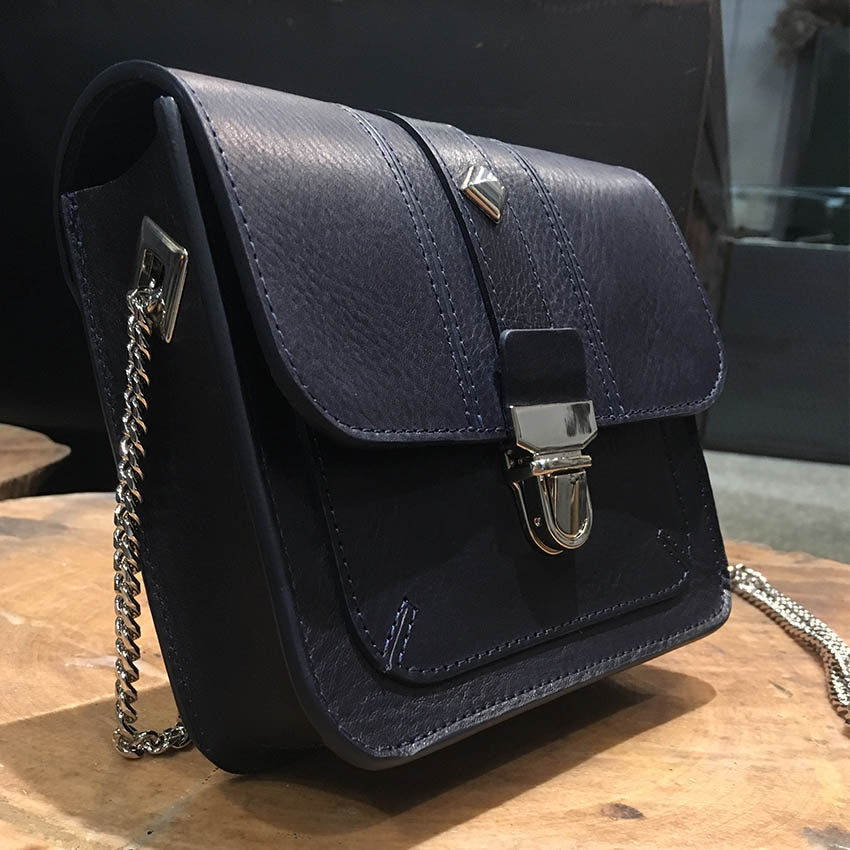 Herbert/Dark Blue mini shoulder bag - OBEIOBEI