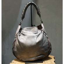 Load image into Gallery viewer, Numero 10/Grey lambskin hobo - OBEIOBEI