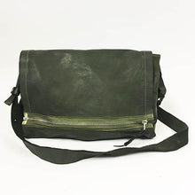 Load image into Gallery viewer, Delle Cose/Military Green soft shoulder bag - OBEIOBEI