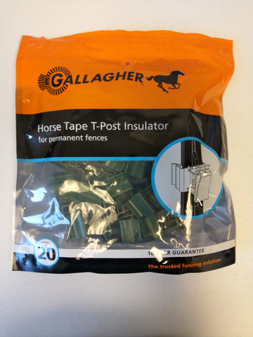 Horse Tape T-Post Insulator - Green