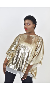 Gold Sequin Top