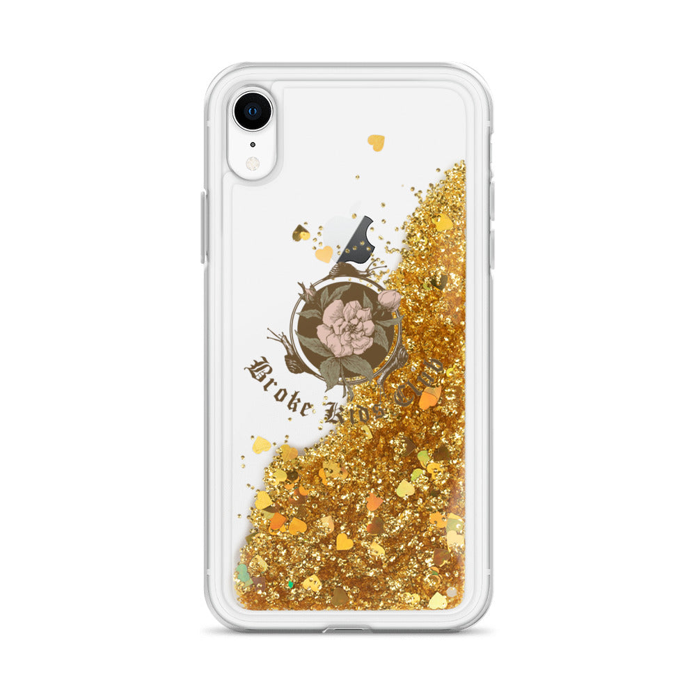 Flowers N Snails Glitter Phone Case