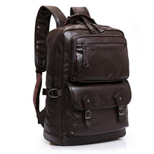 Load image into Gallery viewer, Cow Genuine Leather Men Backpacks New Fashion Real Natural Leather Student Backpack Boy Luxury Brand Large Computer Laptop Bag