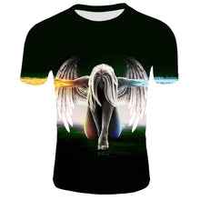 Load image into Gallery viewer, 3d Angel T shirt Men Women Summer Cool Short Sleeve Harajuku Men Clothing Hip Hop Tops Tees Dark Angel Print T-shirt 2XS-4XL