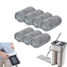 Load image into Gallery viewer, 5/7/10PCS Microfiber Floor Mop Cloth Replace Rag Mop Self Wet And Cleaning Paste Mop Dry Cleaning Mop Floor Cloth Home Bathroom
