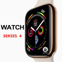 Load image into Gallery viewer, 50%off Smart Watch Series 4 SmartWatch case for apple 5 6 7 iPhone Android Smart phone heart rate monitor pedometor (Red Button)