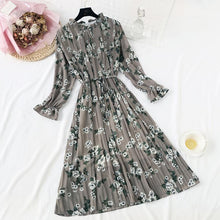 Load image into Gallery viewer, Elegant Polka Dot Women Dress Female Casual Flare Sleeve Office Chiffon Dot Print Dresses A-line Vintage Sweet Clothing Vestidos