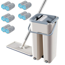 Load image into Gallery viewer, Magic Cleaning Mops Free Hand Spin Cleaning Microfiber Mop With Bucket Flat Squeeze Spray Mop Home Kitchen Floor Clean Tools